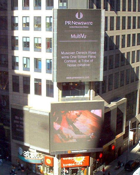 Dereck Rose featured on Time Square
